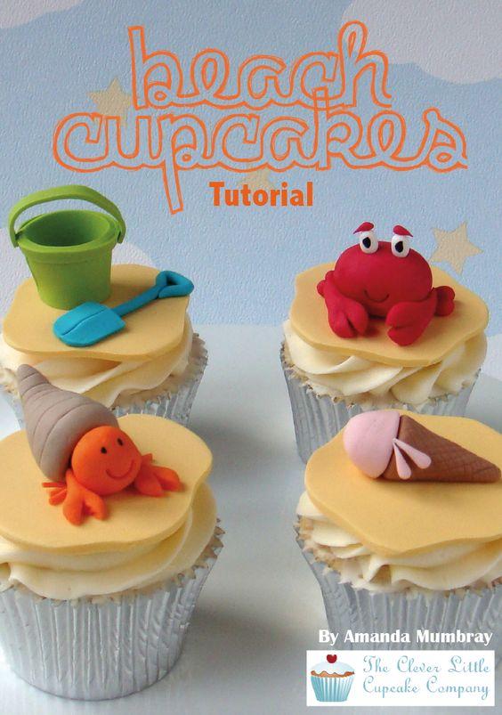 Seaside beach theme beach cupcakes party food