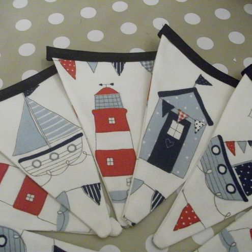 Seaside beach theme bunting decor