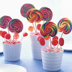 Seaside beach theme lollipop centrepiece decor