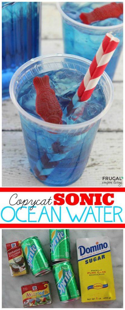 Seaside beach theme ocean water party food