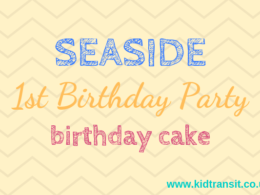 Seaside theme first birthday party birthday cakes