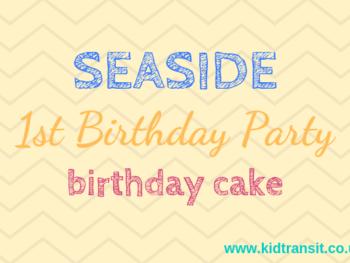 Seaside theme first birthday party birthday cakes