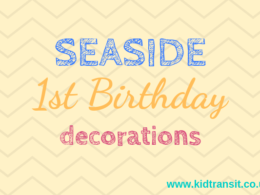 Seaside theme first birthday party decorations