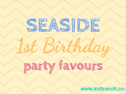Seaside theme first birthday party favours