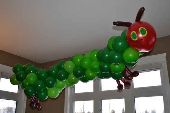 Very Hungry Caterpillar first birthday balloon decor