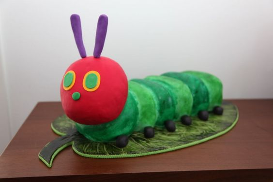 Very Hungry Caterpillar first birthday caterpillar cake
