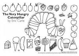 Very Hungry Caterpillar first birthday colouring pages party favour