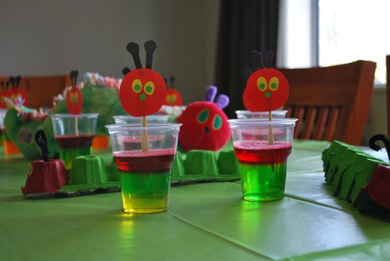 Very Hungry Caterpillar first birthday jelly party food