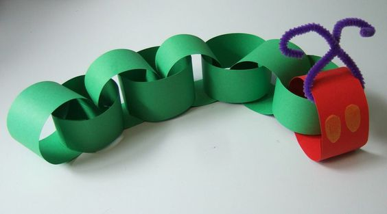 Very Hungry Caterpillar first birthday paper chain decor