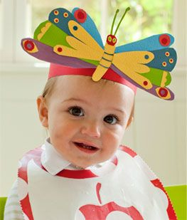 Very Hungry Caterpillar first birthday party hat decor