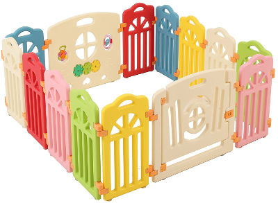 Colourful playpen