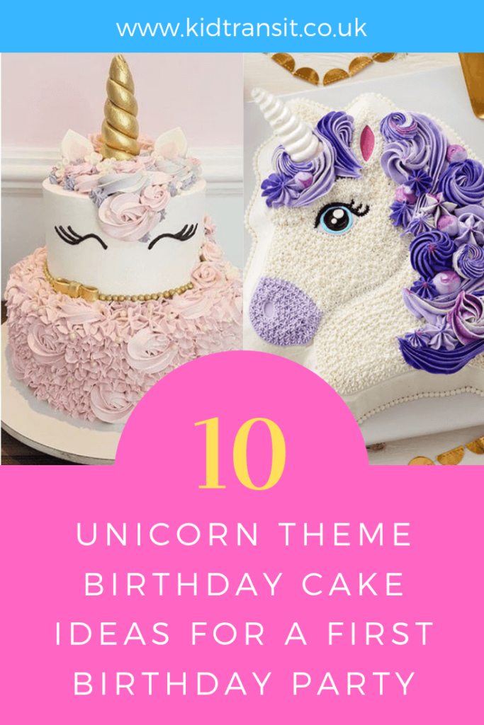 How to create 10 birthday cakes for a unicorn theme first birthday party.