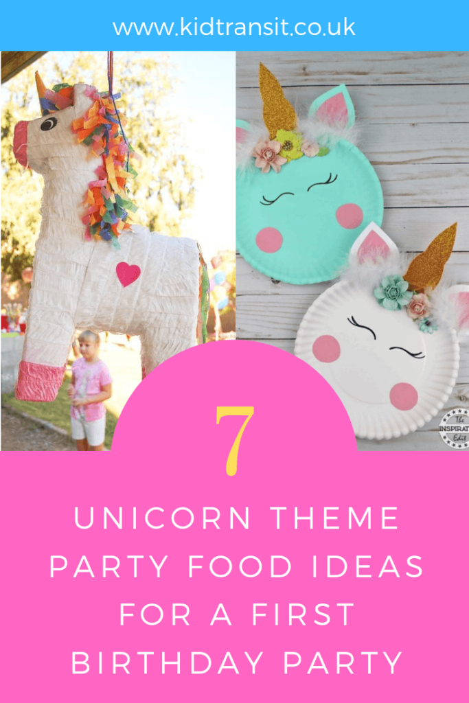 How to create 7 party games and activities for a unicorn theme first birthday party.