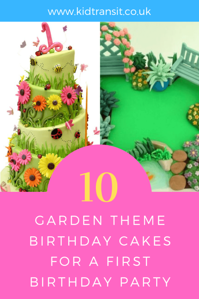 Party birthday cake ideas for a garden theme first birthday party.