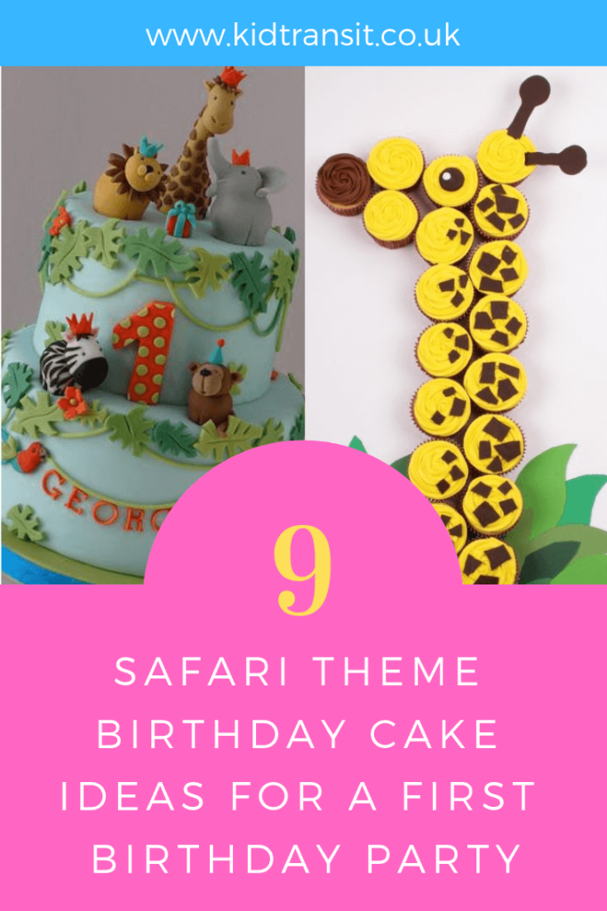 Party birthday cake ideas for a safari theme first birthday party.