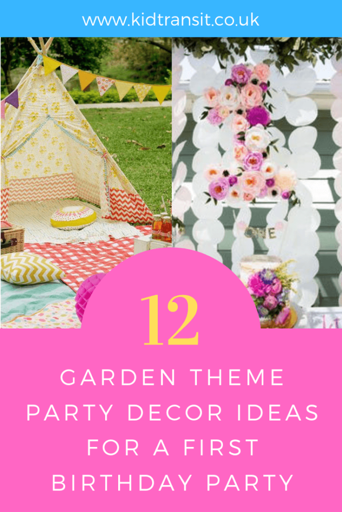 Party decor ideas for a garden theme first birthday party.