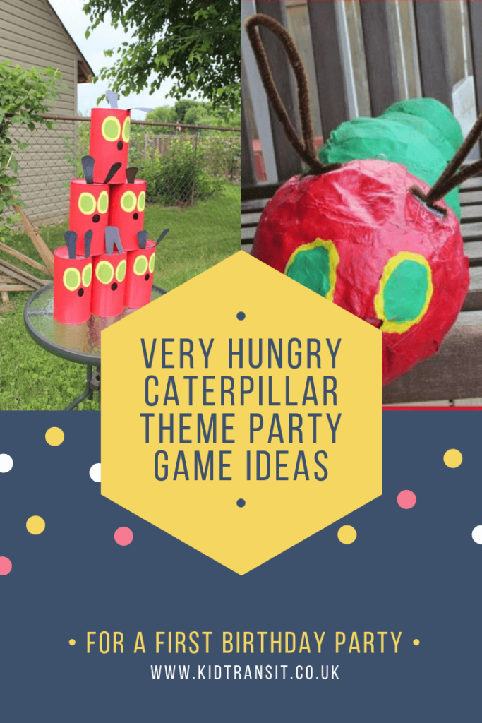 Party games and activities for a Very Hungry Caterpillar theme first birthday party