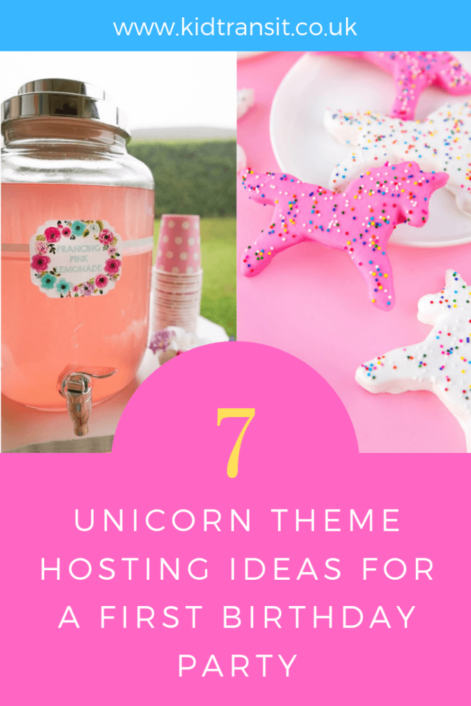 Tips and tricks on hosting a unicorn theme first birthday party.