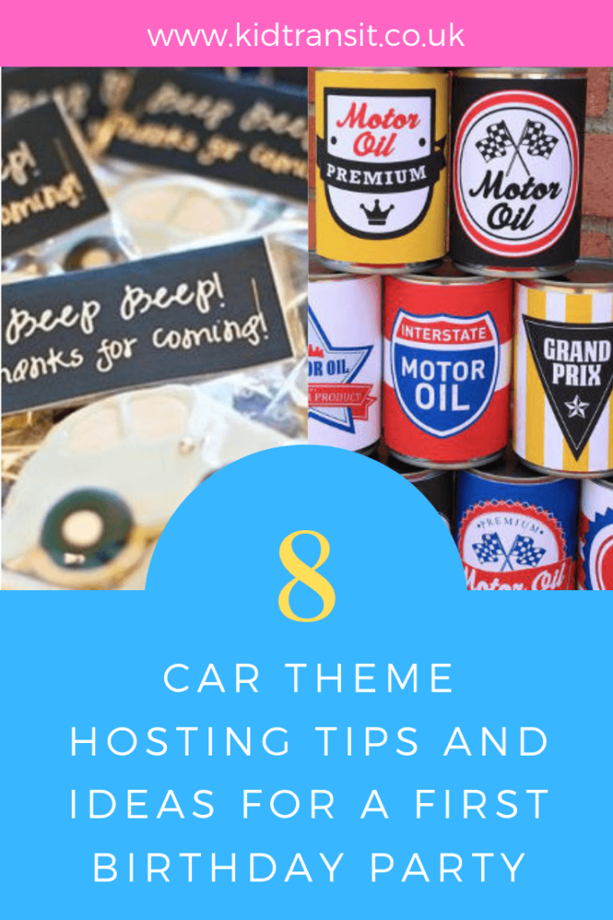 Brilliant hosting tips and ideas for a Car theme first birthday party.