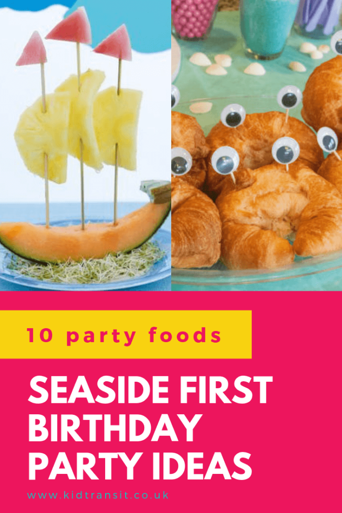 Check out 10 delicious party food and drink ideas for a seaside theme first birthday party