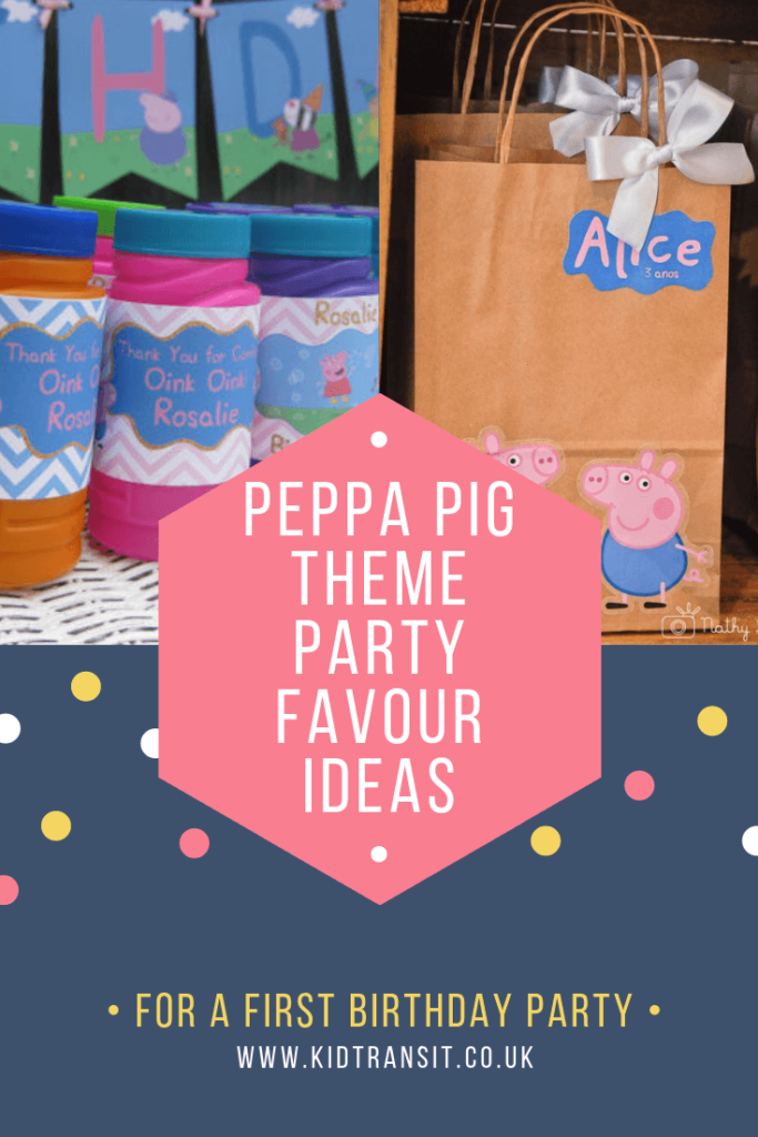 Check out 6 awesome party favour ideas for a Peppa Pig theme first birthday party