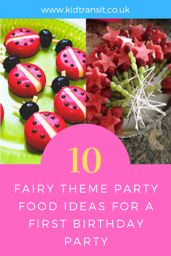 party birthday food fairy drink themed theme kid