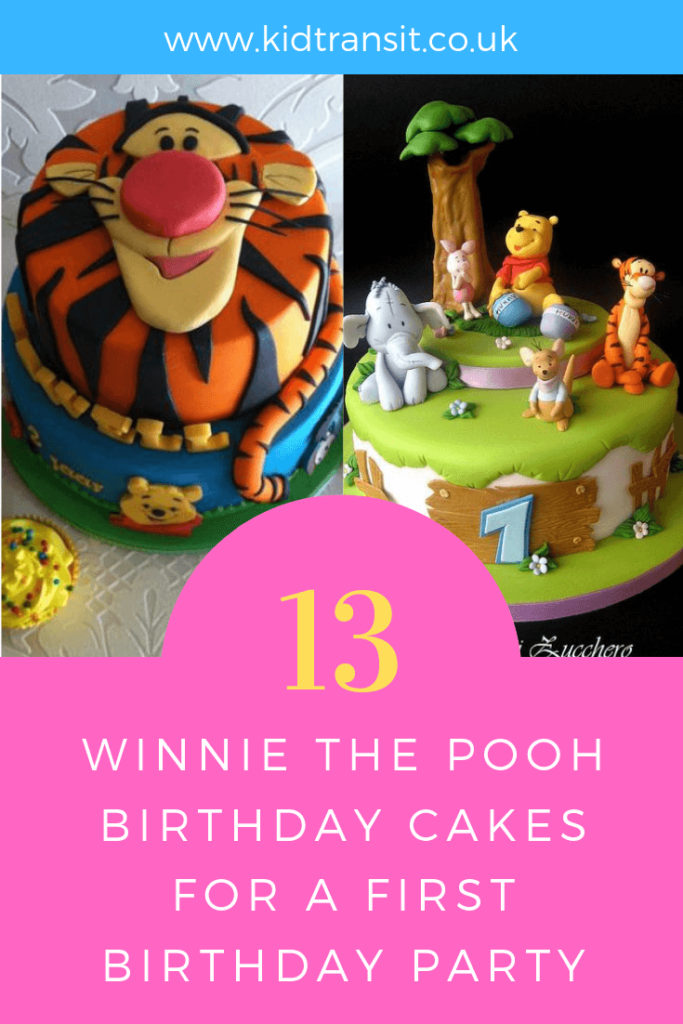 How to create 13 birthday cakes for a Winnie the Pooh theme first birthday party.