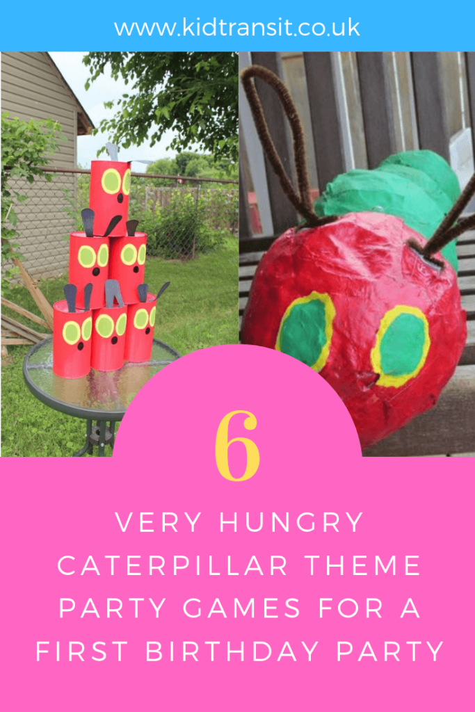 How to create 6 party games and activities ideas for a Very Hungry Caterpillar theme first birthday party.