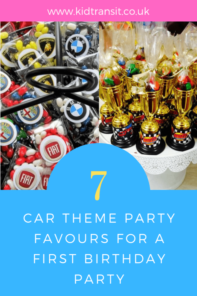 How to create 7 brilliant party favour ideas for a Car theme first birthday party.