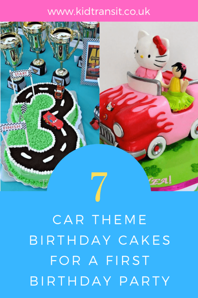 How to create 7 delicious birthday cakes for a Car theme first birthday party.
