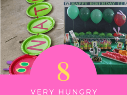 How to create 8 party decor ideas for a Very Hungry Caterpillar theme first birthday party.