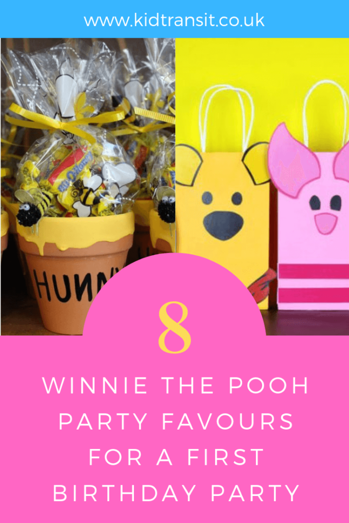 How to create 8 party favours for a Winnie the Pooh theme first birthday party.