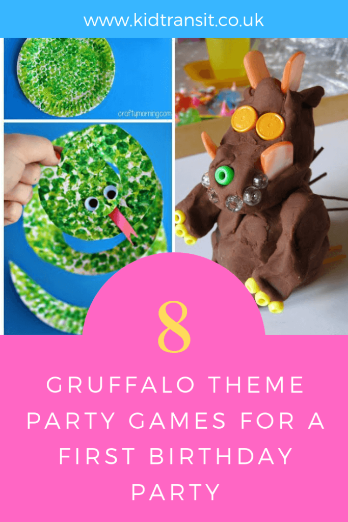 How to create 8 party games and activities for a Gruffalo theme first birthday party.