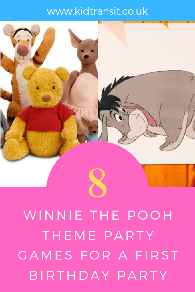 How to create 8 party games and activities for a Winnie the Pooh theme first birthday party.