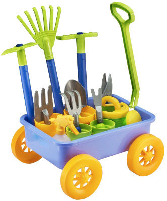 Pull-Along Wagon Garden Tool Set