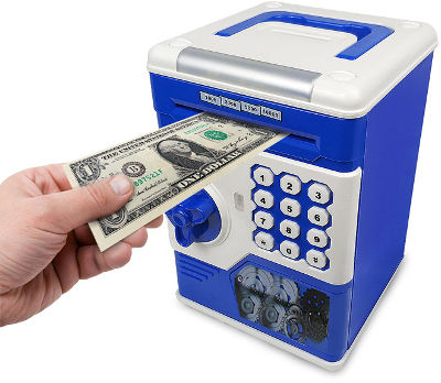 Savings money bank with passcode