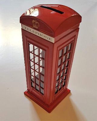 Telephone box money bank