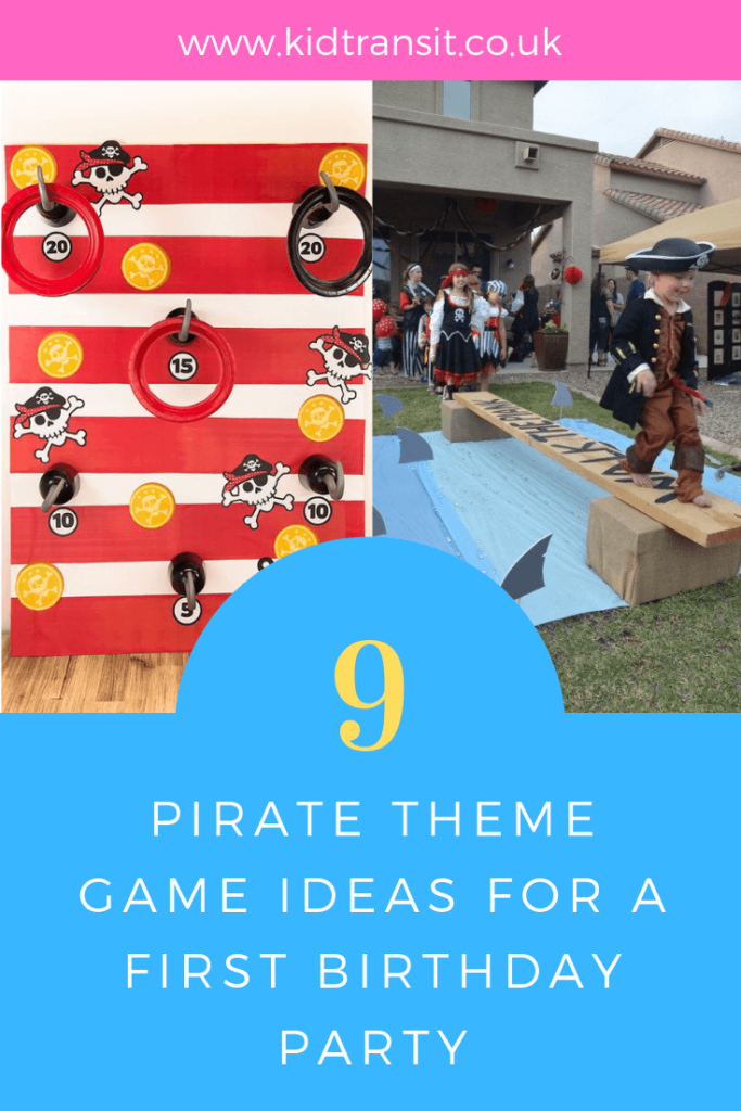 Ahoy Mateys! How to create 9 fun party games for a Pirate theme first birthday party.