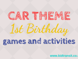 Car theme first birthday party games and activities