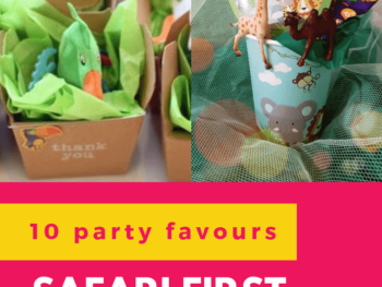 Check out 10 awesome party favour ideas for a safari theme first birthday party