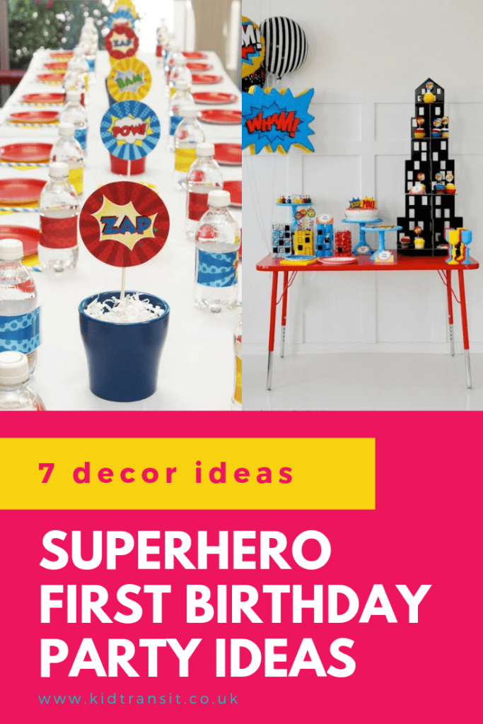 Check out 7 awesome decor ideas for a superhero theme first birthday party