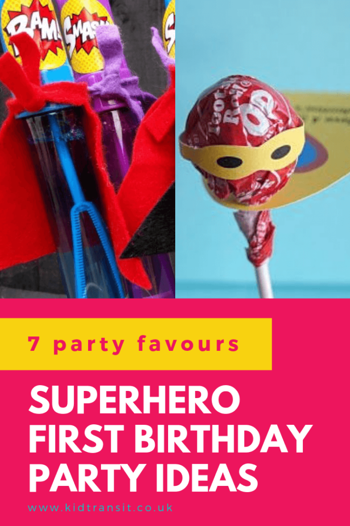Check out 7 awesome party favour ideas for a superhero theme first birthday party
