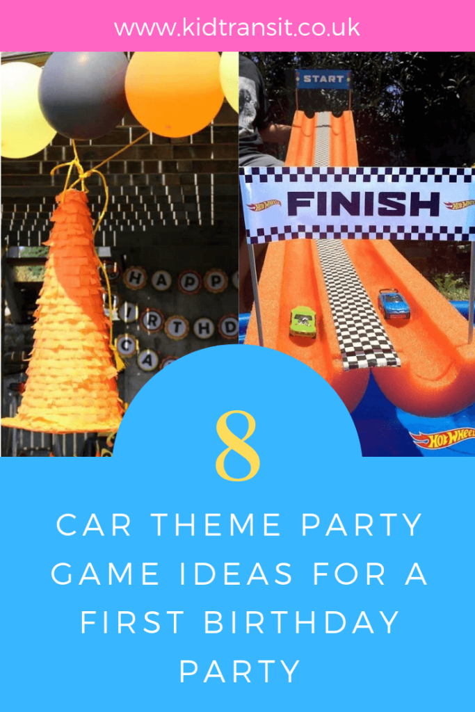 How to create 8 awesome game and craft ideas for a Car theme first birthday party.