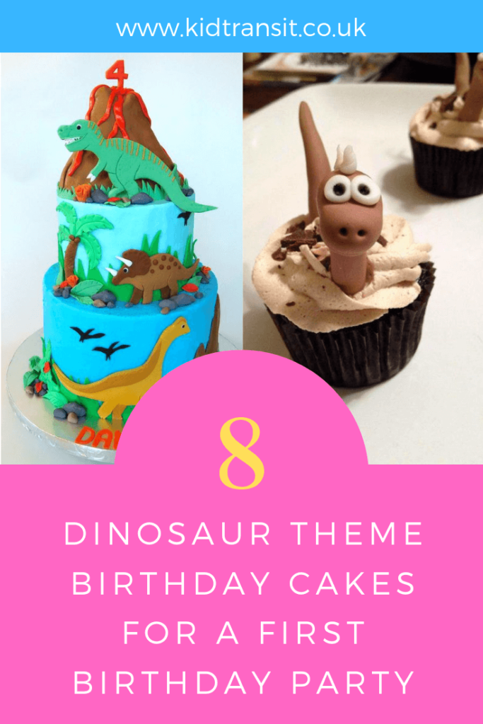 How to create 8 birthday cakes for a Dinosaur theme first birthday party.