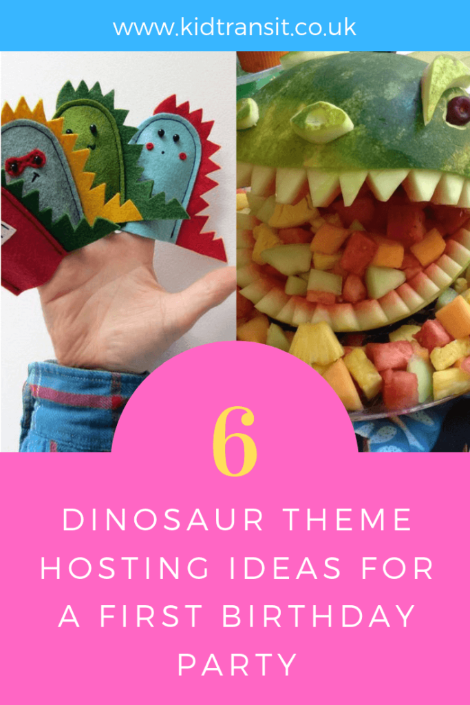 How to host a Dinosaur theme first birthday party. 6 great ideas to make your party ROAR-some!