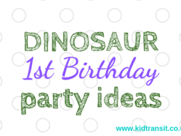 How to host dinosaur first birthday party