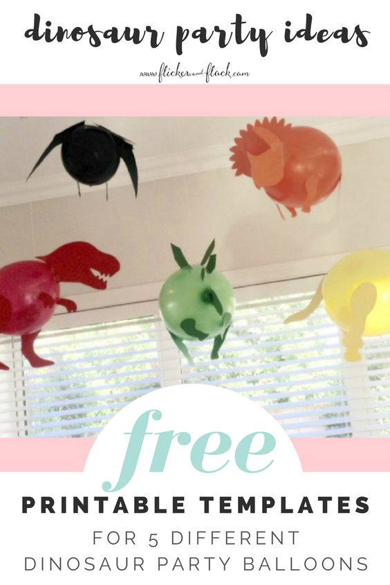 How to host dinosaur theme birthday party dinosaur balloons