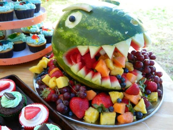 How to host dinosaur theme first birthday party fruit dinosaur