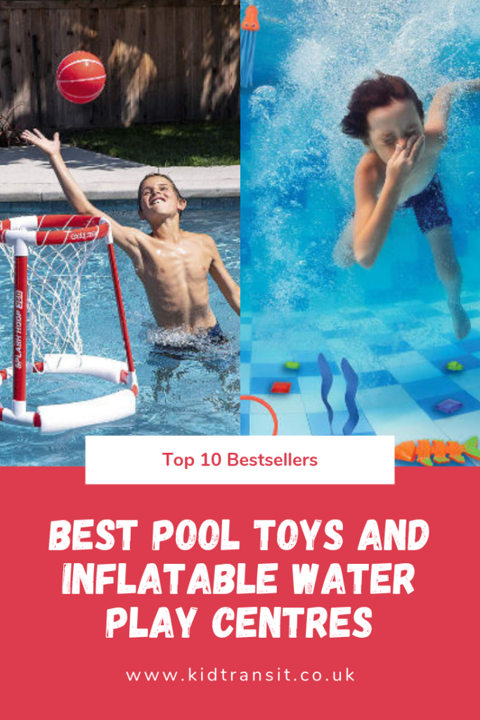 Bestselling pool toys and inflatable water play centres for kids this summer.