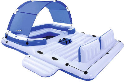 Six person floating island pool raft